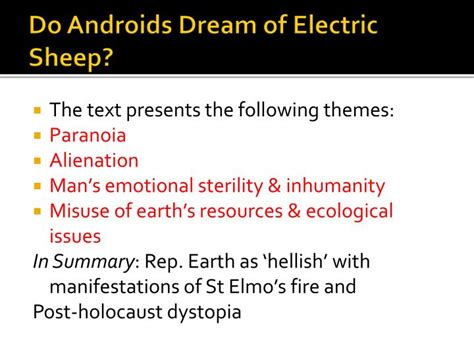 do androids of electric sheep themes ppt blade runner context powerpoint presentation id 2640726