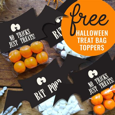 treat bag toppers  halloween pretty  party