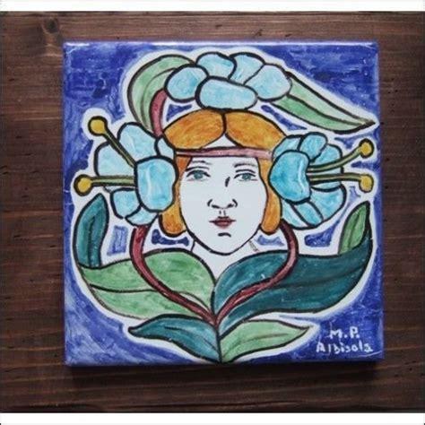 piastrelle liberty piastrella ceramica maiolica cm 15x15 stile liberty per