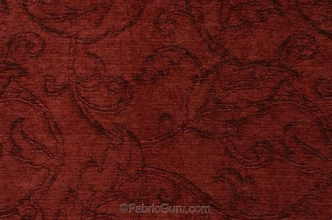 m7403b patterned chenille upholstery fabric in redwood