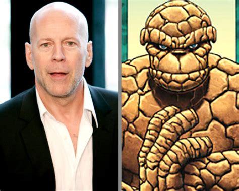 Kaos Ordinal 20th Century Fox Studio bruce willis jadi pilihan untuk hidupkan karakter the thing di reboot fantastic four