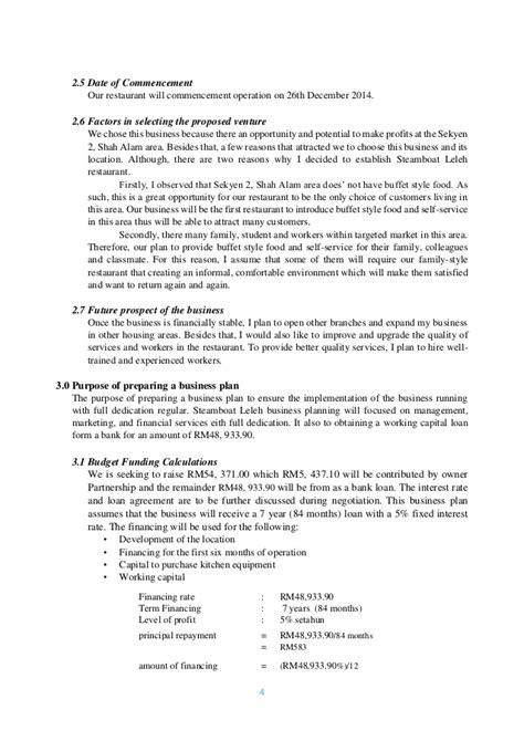 business plan format for bank loan exle business plan politeknik