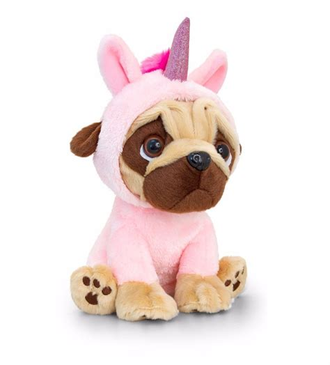 pet names for soft teddy pugsley 14cm pink unicorn pug soft teddy sd1232 ebay