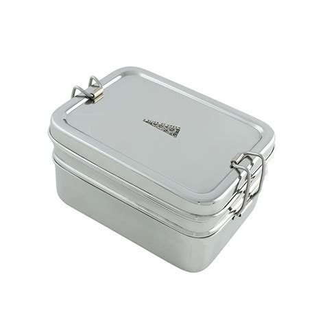 Gig Baby Rectangle Lunchbox two tier rectangle lunch box with mini container green pioneer