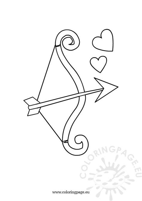 Bow and arrow – Coloring Page