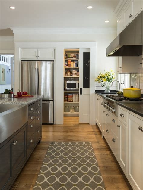 galley kitchen design ideas amp remodel pictures houzz great ceiling mounted pull up bar p90x decorating ideas