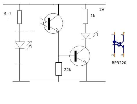 phototransistor base resistor phototransistor rpr 220 photosensor to logic level electrical engineering stack exchange