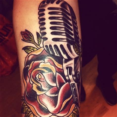 old school microphone tattoo designs 60 awesome microphone tattoos