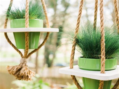 Rope Hanging Planter - diy hanging planter with rope hgtv