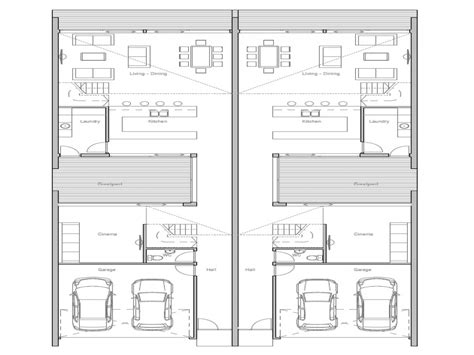 Duplex House Plans For Narrow Lots | duplex plans for small lots narrow lot duplex house plans