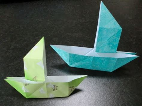 Origami Tricks - 折り紙 だまし船の折り方 how to origami quot trick boat damashihune quot