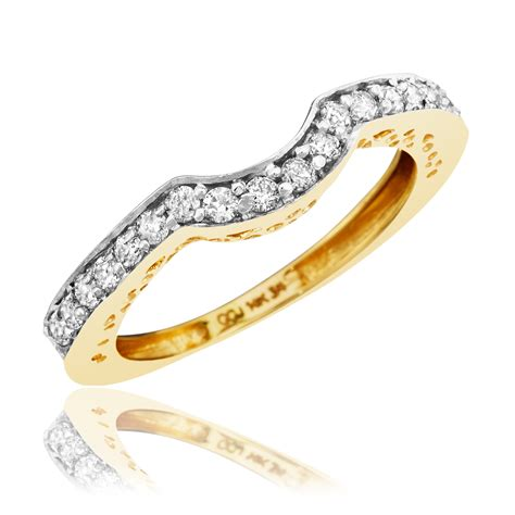Wedding Bands Yellow Gold With Diamonds by 1 4 Ct T W S Wedding Band 14k Yellow Gold
