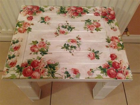 Decoupage On Wood Table - decoupage table decoupage furnitures