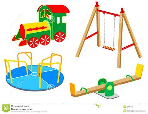 swing names playground equipment set 1 stock vector illustration