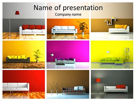 front office layout ppt furniture catalogue powerpoint template backgrounds id
