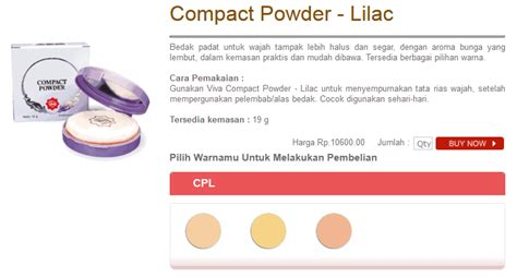 Bedak Viva Compact Powder topic bedak viva compact powder lilac