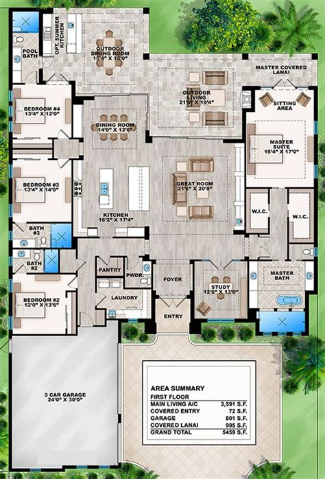 home design for 4 room house plan 207 00031 contemporary plan 3 591 square