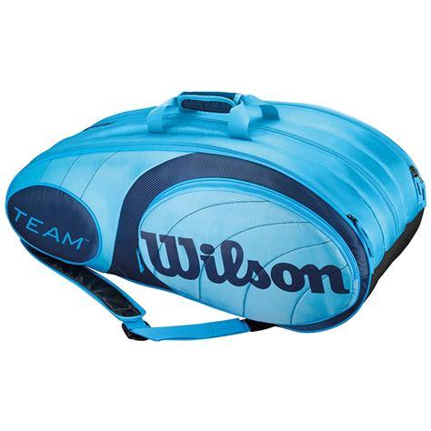 wilson team 12 pack tennis bag blue