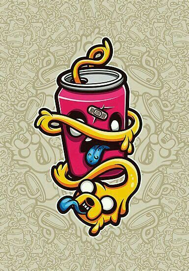 adventure time personajes de graffiti diseno de