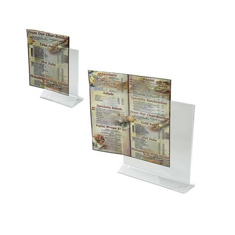 Acrylic Menu acrylic menu holders winco trenton china restaurant