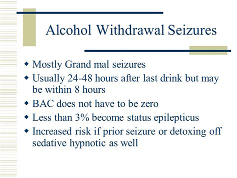 Detox Grand Mal Seizure by Treatment Of Alcoholism And Addiction Ppt