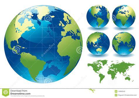 world globe maps stock vector illustration  globes