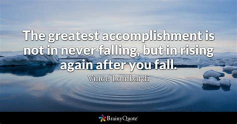 Mba Is Not A Means To An End by The Greatest Accomplishment Is Not In Never Falling But
