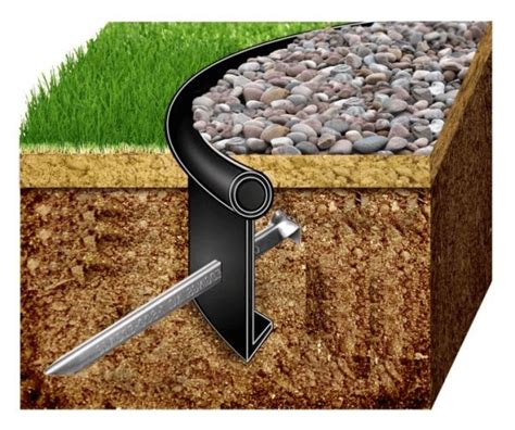 Install Plastic Landscape Edging Best 25 Lawn Edging Ideas On Flower Bed