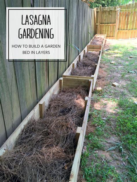 lasagna gardening layering  raised garden bed garden
