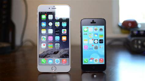 iphone 5 comparison iphone 6 plus vs iphone 5s size comparison