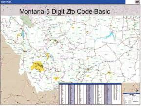 Montana Zip Code Map by Montana Zip Code Map With Wooden Rails From Onlyglobes Com