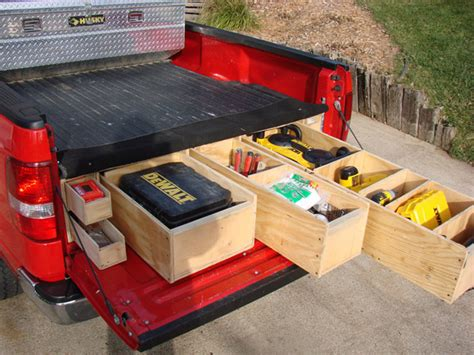 truck bed organizer diy homemade truck box vehicles contractor talk