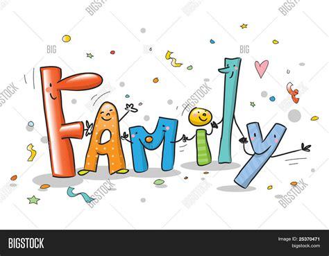 imagenes de la familia muisca vector y foto familia de la palabra con letras de bigstock
