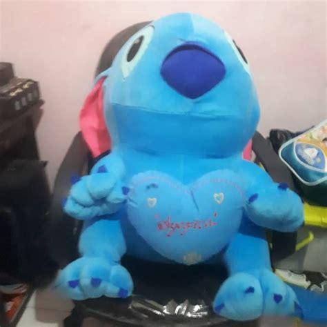 Ukir Nama Boneka Minion Jumbo 65cm ukir nama atau foto boneka stitch jumbo t65cm