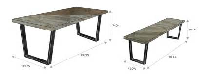 Dimensions Dining Table Dining Bench Dimensions 187 Gallery Dining