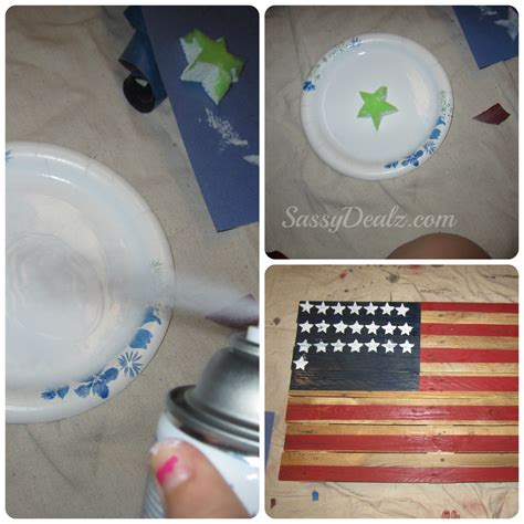 spray paint american flag diy how to make an american flag out of a wood pallet