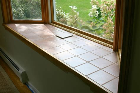 Bay Window Sill Replacement Tile On Bay Windowsill