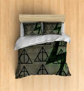 Queen Duvet Size Deathly Hallows Bedding Harry Potter Inspired Bedding