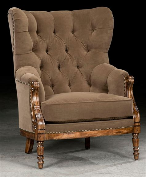 classic tufted high back chair american made furniture 74
