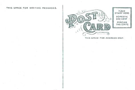 Back Postcard Template 7 best images of vintage postcard template vintage