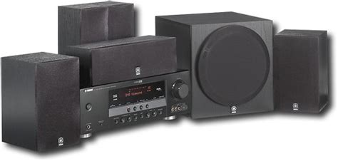 yamaha 600w 5 1 ch home theater system yht 390bl best buy