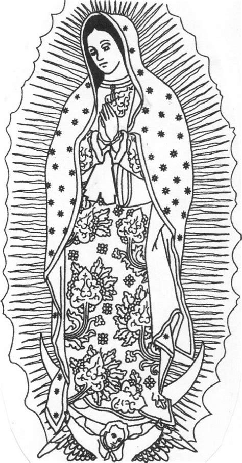 imagenes para dibujar de la virgen de guadalupe dibujos infantiles de la v 237 rgen de guadalupe para colorear