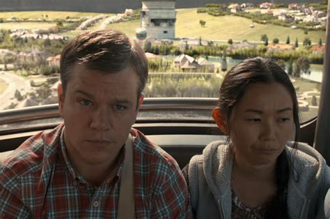 new movies in cinema downsizing by matt damon and christoph waltz review in downsizing matt damon sweats the small stuff the new york times