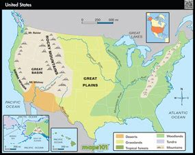map of the united states showing physical features primary level united states physical geography