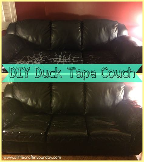 duct tape couch diy duck tape couch a little craft in your day