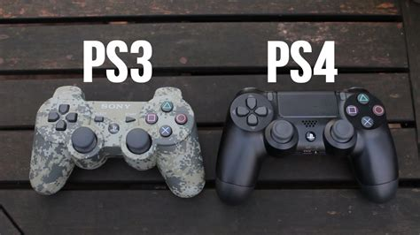 ps3 controller vs ps4 controller comparison