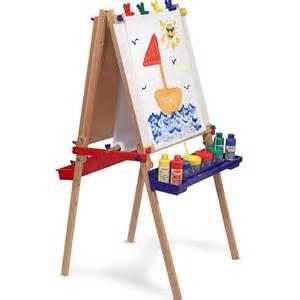 childrens easel kids deluxe floorstanding art easel