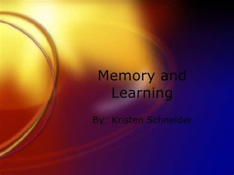 Memory Presentation Memory Ppt