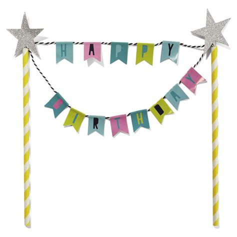 Balloonable Bunting Flag Happy Birthday cake topper happy birthday bunting kmart