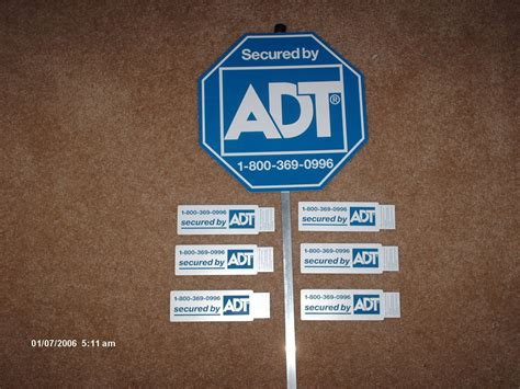 pin adt security yard signs for sale 8 stickers 2 on